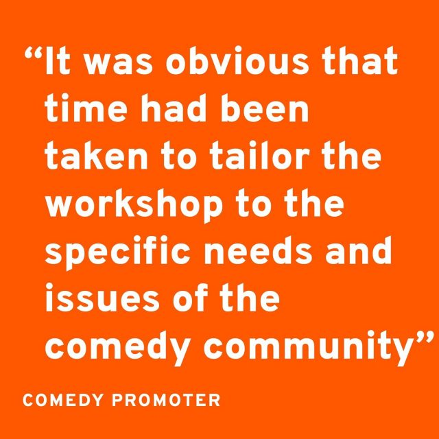 """❗TOMORROW we host the second Safer Comedy Spaces session for comedians, fans and promoters who want to understand and better respond to sexual violence in the comedy community. ❗  Grab a ticket here and get in touch if you have any questions about attending!  https://ticketpass.org/event/EIDUAP  Here's some feedback from a comedy promoter who attended the workshop 🎭:  """"I really liked the way the facilitators focused the conversation towards how we behave around the performance, rather than what content we promote (while still accepting that this is an important conversation). I think people tend to move towards the discussion of what is acceptable content-wise because it is an 'easier' debate (and comics love to talk about their own set).  Both facilitators were great both in presenting and leading the smaller groups in discussion. It was also obvious that time had been taken to tailor the workshop to the specific needs and issues of the comedy community.""""       #GoodNightOutCampaign #ConsentCulture #EndingHarassment #Grassroots #Feminism #Women #London #Music #TimesUp #Venue #Consent #Training"""