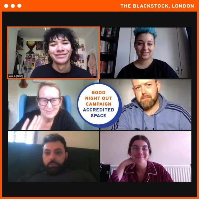 """We're very happy to have @blackstockpub onboard as a newly accredited Good Night Out Venue! Their staff team recently attended a training session facilitated by June and Giulia 👏   The BlackStock is a classic pub in the heart of London's Finsbury Park which offers food, drink and football matches on the weekend.   One staff member who attended the session said """"the training was well facilitated and had a good mix of interactive activities and listening""""   Our training and accreditation programme focuses on creating a culture of belief, support and accountability within staff teams. This is integral to the prevention of harassment and ensuring we offer adequate and compassionate support to the person who has been targeted by harassment.   Get in touch with us if you would like to find out more about training which currently takes place over Zoom ☎️ 💻.       #GoodNightOutCampaign #ConsentCulture #EndingHarassment #Grassroots #Feminism #Women #London #Music #TimesUp #Venue #Consent #Training #TheBlackStockPub #NorthLondon #IsRed"""